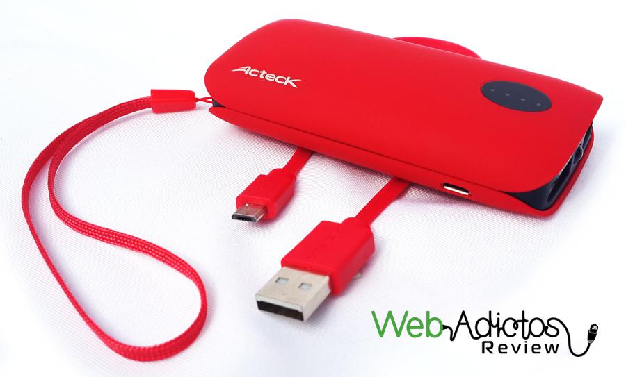 Baterías Portátiles Acteck XPLOTION, atractivas, divertidas y muy útiles - contenido-del-empaque-power-bank-PB400-Acteck