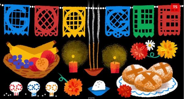 Google presenta doodle animado por el día de muertos - dia-de-muertos