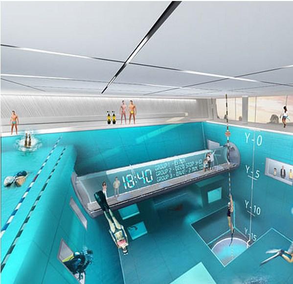 Y-40 la piscina más profunda del mundo - piscina-Y-40