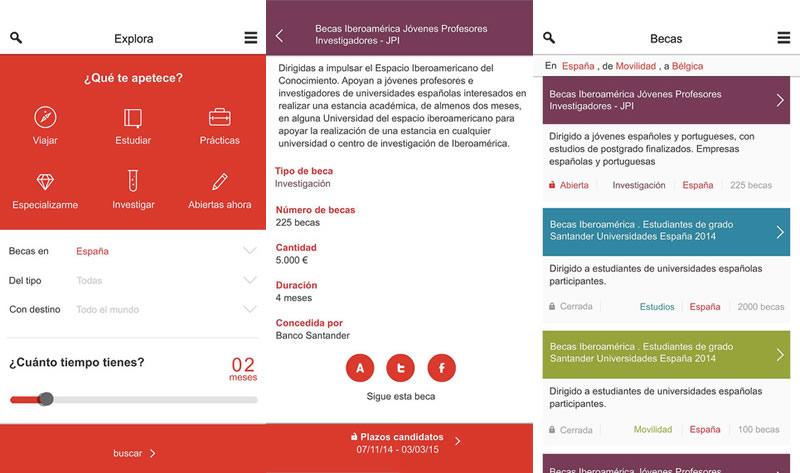 Lanzan la App Becas Santander para estudiantes - App-Becas-Santander