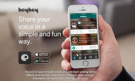 Conoce Hey Hey, la app para compartir mensajes de audio que usan los famosos
