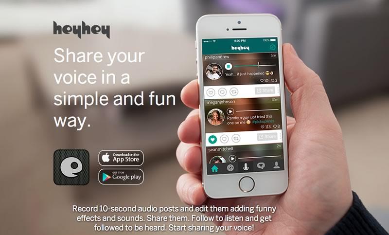 Conoce Hey Hey, la app para compartir mensajes de audio que usan los famosos - Hey-Hey-App