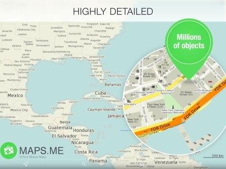 La app de mapas offline, Maps.ME Pro se vuelve gratuita
