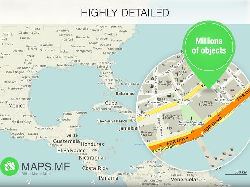 La app de mapas offline, Maps.ME Pro se vuelve gratuita - Mapas-Offline-Maps-ME