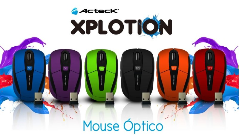 Mouse inalámbricos Xplotion de Acteck ¡Coloridos y accesibles! [Reseña] - Mouse-inalambrico-Xplotion-Acteck-800x464
