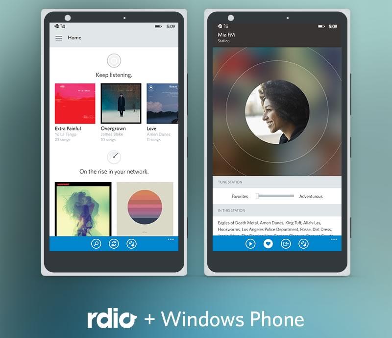 Rdio lanza nueva versión para Windows Phone 8.1 - Rdio-Windows-Phone