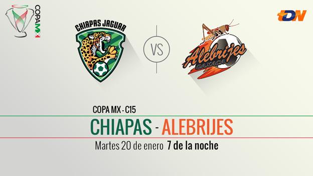 Chiapas vs Alebrijes, Llave 1 de la Copa MX Clausura 2015 [ida] - Chiapas-vs-Oaxaca-en-vivo-Copa-MX-Clausura-2015