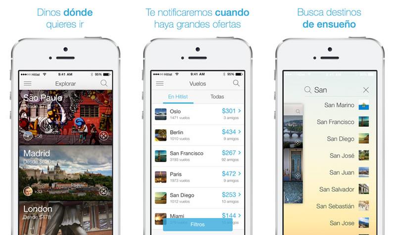 Hitlist, la app que te avisa de vuelos baratos lanza nueva versión - Hitlist-buscar-vuelos-baratos