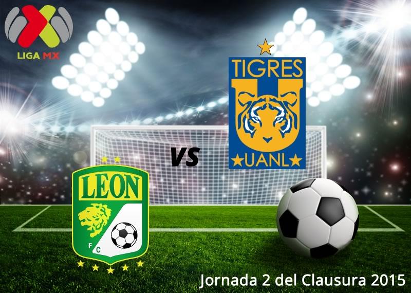 León vs Tigres, Jornada 2 del Clausura 2015 - Leon-vs-Tigres-en-vivo-Clausura-2015