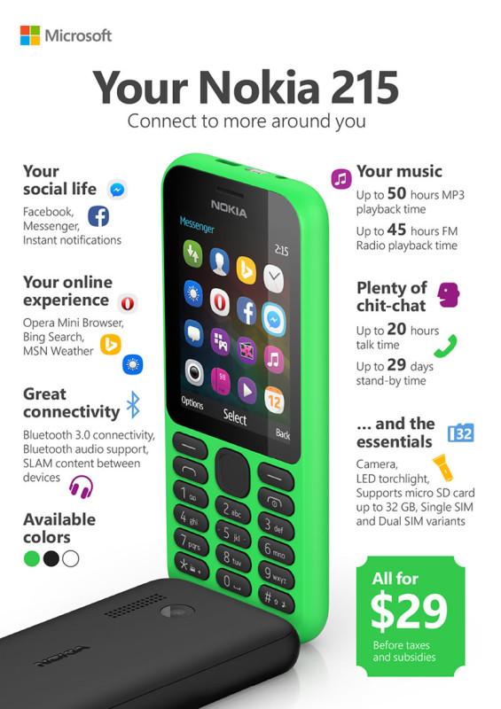 Nokia 215, un teléfono listo para internet a solo $29 USD - Nokia-215-Infografia-565x800