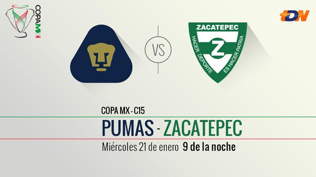 Pumas vs Zacatepec, Ida de la Llave 1 de la Copa MX Clausura 2015 - Pumas-vs-Zacatepec-en-vivo-Copa-MX-Clausura-2015
