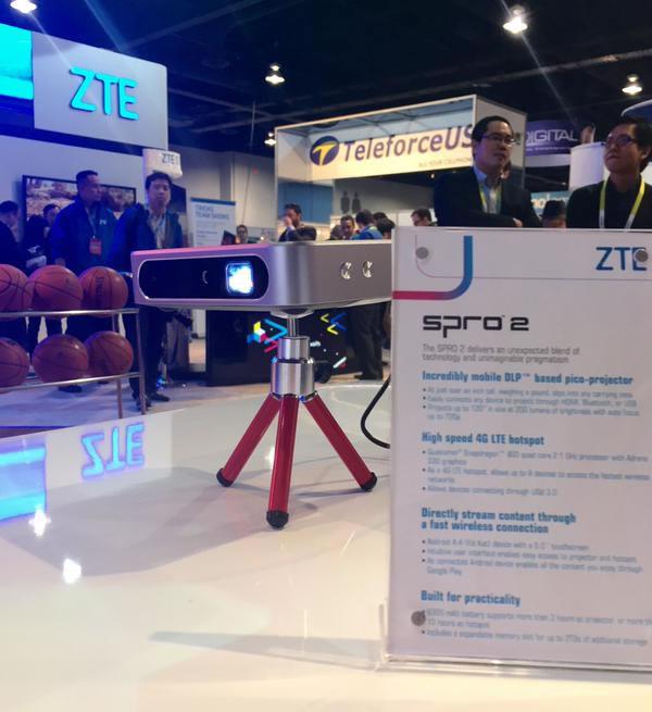 ZTE presenta el proyector inteligente Spro 2, en el CES 2015 - Spro-2-ZTE