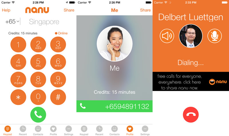 Nanu, la app para llamar gratis en iOS y Android - Llamar-gratis-por-celular-Nanu