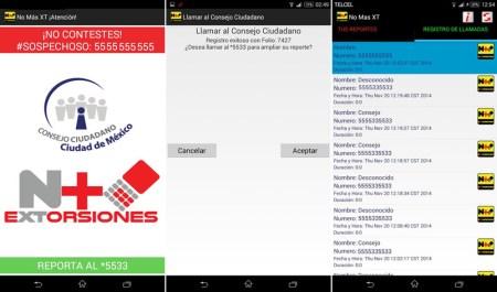 No Más XT, La app para evitar extorsiones telefónicas