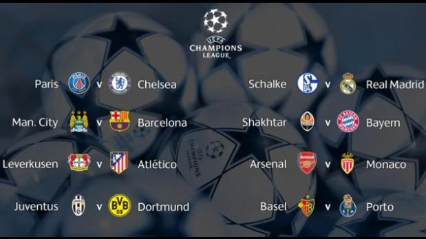 Comienzan los octavos de final de la Champions League 2014 - 2015 - Partidos-de-Octavos-de-Final-de-la-Champions-League-2014-2015