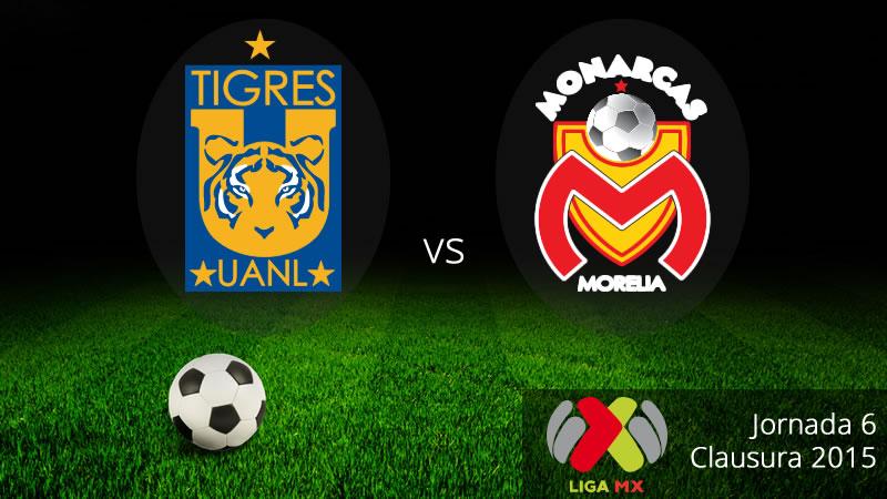 Tigres vs Morelia, Fecha 6 del Clausura 2015 - Tigres-vs-Morelia-en-vivo-Clausura-2015
