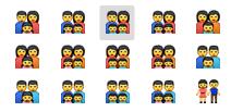 Apple apuesta por la diversidad con la nueva colección de emojis - emojis-familia
