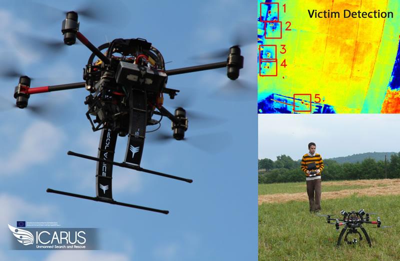 Presentan tecnología para controlar drones de emergencias con un smartphone #MWC2015 - Drones-para-emergencias