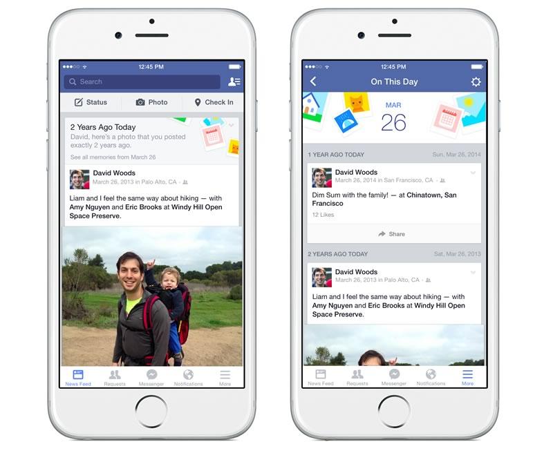 """Facebook presenta """"Este día"""" para ver publicaciones de años anteriores - Facebook-on-this-day"""