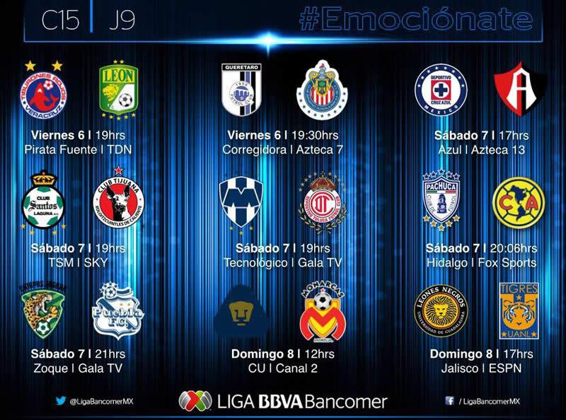 Partidos de la Jornada 9 del Clausura 2015 en la Liga MX - Partidos-Jornada-9-Clausura-2015-Liga-MX