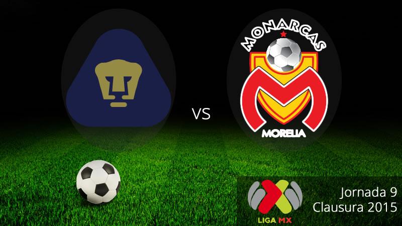 Pumas vs Morelia, Jornada 9 del Clausura 2015 - Pumas-vs-Morelia-Clausura-2015