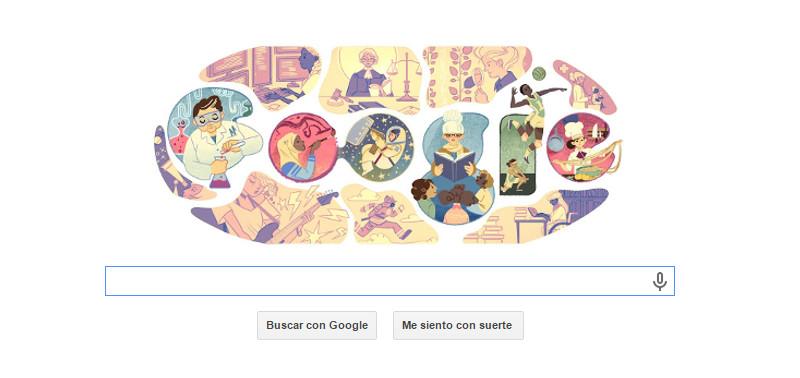 Google conmemora con doodle el día Internacional de la mujer - doodle-dia-de-la-mujer