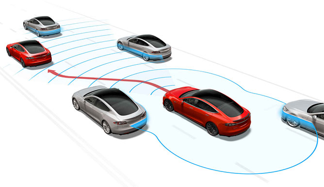 El futuro es ahora: Automóvil Tesla tendrá piloto automático en 3 meses - tesla-piloto-automatico