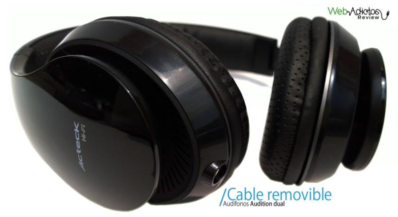 Audífonos con micrófono Audition Dual de Ackteck - Audifonos-con-microfono-acteck-4