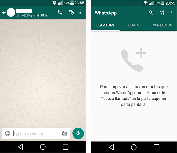 WhatsApp para Android se actualiza a Material Design - Capturas-WhatsApp-MD