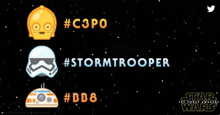 Twitter lanza Emojis de Star Wars #C3P0 #STORMTROOPER #BB8 - Emojis-de-Star-Wars-en-Twitter