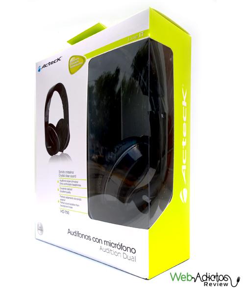 Empaque Audifonos con microfono hi fi acteck Audífonos con micrófono Audition Dual de Ackteck