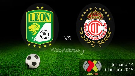 León vs Toluca, Jornada 14 del Clausura 2015