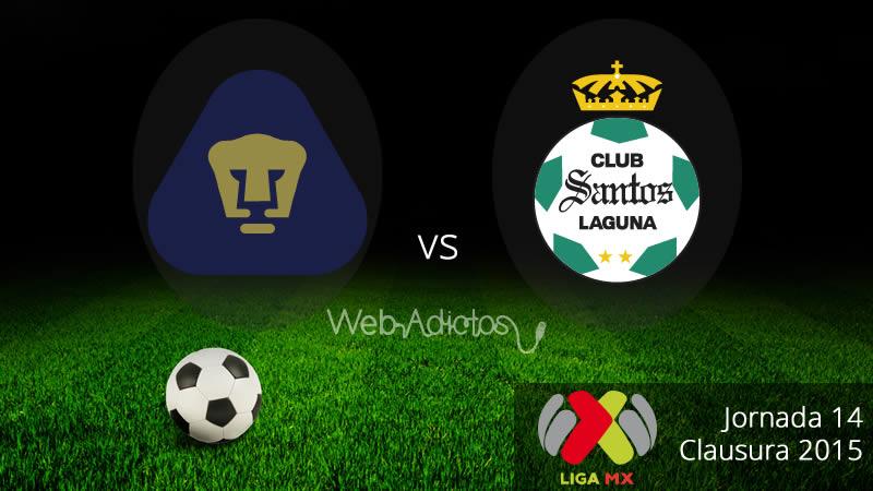 Pumas vs Santos, Jornada 14 del Clausura 2015 - Pumas-vs-Santos-Clausura-2015