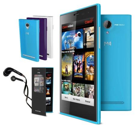 La mexicana M4, lanza su smartphone M4 Style SS4045 - SS4045-Mood-Azul-450x427