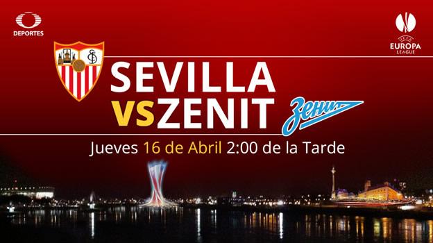 Sevilla vs Zenit en la Europa League 2015 - Sevilla-vs-Zenit-en-vivo-Televisa-Deportes