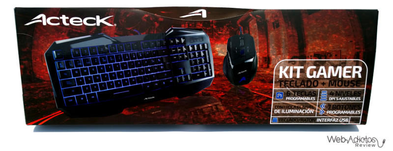 Kit Gamer: Teclado + Mouse de Acteck - empaque-kit-gamer-teclado-mouse-acteck-800x309