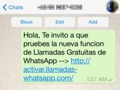 Las llamadas de WhatsApp son usadas como gancho por cibercriminales ¡Cuidado! - mensaje-para-activar-llamadas-de-whatsapp-falso