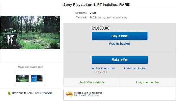 Consolas PS4 con P.T. Demo instalado se subastan por más de $1,500 dólares en eBay - pt_demo-ps4_ebay