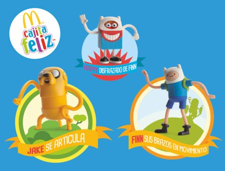 Personajes de Hora de Aventura llegan a la Cajita Feliz de McDonald's