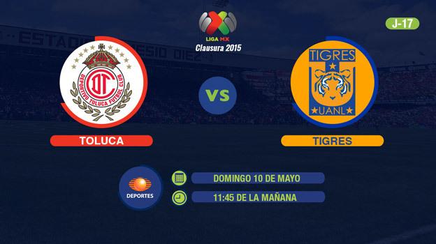 Toluca vs Tigres, Jornada 17 del Clausura 2015 - Toluca-vs-Tigres-2015-en-vivo-Televisa-Deportes-