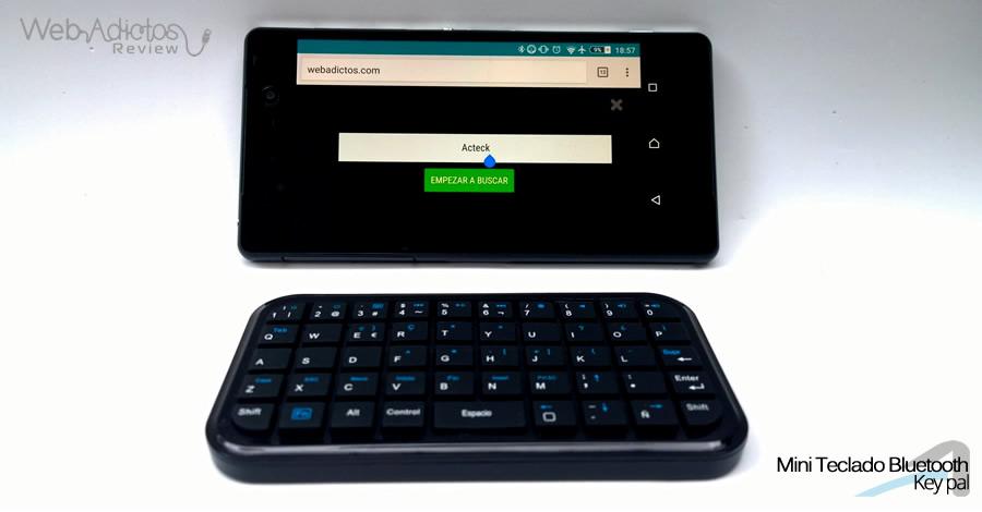 Acteck Mini Teclado Key pal Bluetooth smartphone Mini teclado Bluetooth Key pal, perfecto para el smartphone y tablet [Reseña]