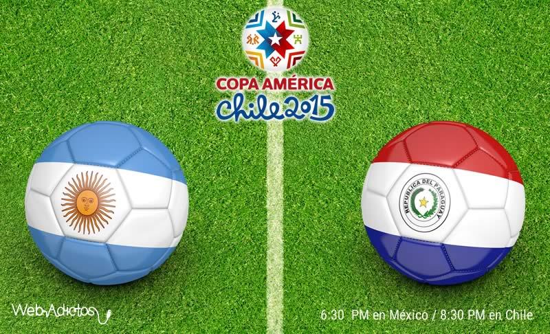 Argentina vs Paraguay, Semifinal Copa América 2015 - Argentina-vs-Paraguay-Semifinal-Copa-America-2015-en-vivo