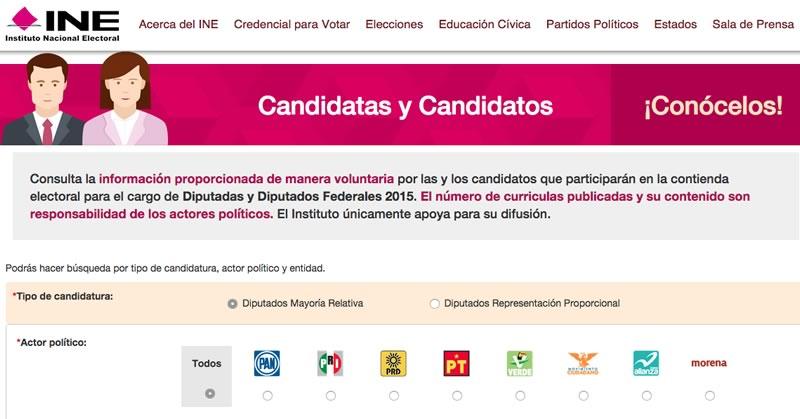 Candidatos Elecciones 2015 por quien votar Elecciones 2015: Conoce a los candidatos y decide por quién votar