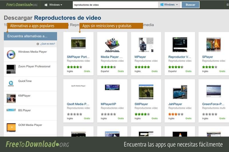 Nuevo sitio para descargar programas Open Source gratis - Descargar-apps-gratis-FreeToDownload