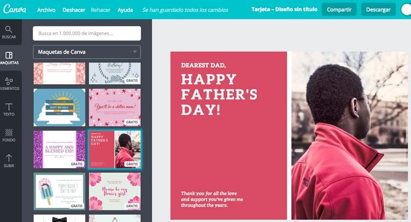 Postales del día del padre 2017, ideales para tu papá geek - postales-dia-del-padre-2017-canva