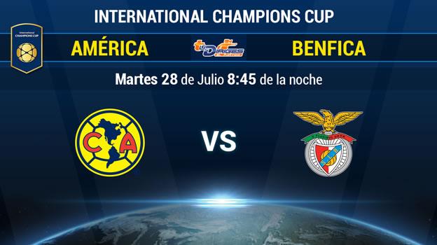 América vs Benfica en la International Champions Cup 2015 - America-vs-Benfica-en-vivo-por-Televisa-Deportes