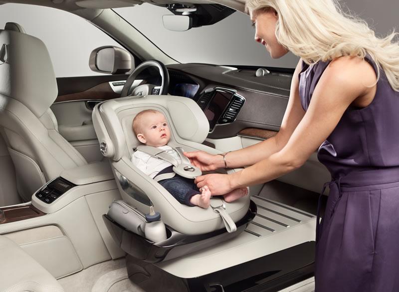 Volvo presenta un concepto de asiento para bebé en la XC90 - Concepto-asiento-para-bebe-Volvo-XC90