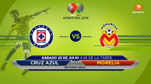 Cruz Azul vs Morelia en el Apertura 2015 - Cruz-Azul-vs-Morelia-en-vivo-Apertura-2015-Televisa