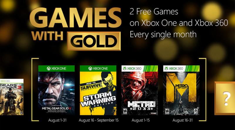 Metal Gear Solid: Ground Zeroes gratis en Games with Gold de agosto - games-with-gold-agosto-800x443