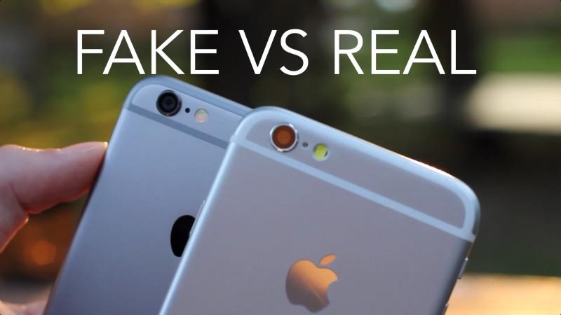 Pekín: desmantelan red que elaboró 40,000 iPhones falsos - iphone-fake-vs-real-800x450